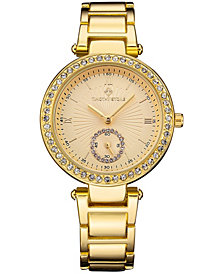 Women's 'elle' Classic Crystal Accented Bracelet Watch