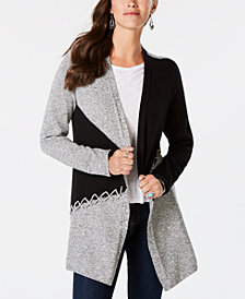 Style & Co Colorblocked Cardigan, Created for Macy's