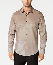Alfani Men's Ombré Stripe Shirt, Created for Macy's