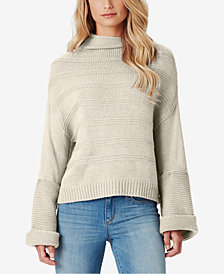Jessica Simpson Juniors' Connie Ribbed Cuffed Sweater