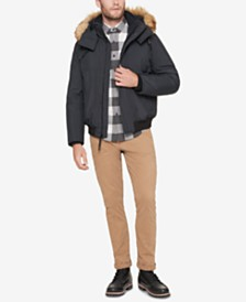 Marc New York Men's Faux-Down Hooded Bomber Jacket