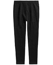 Epic Threads Big Girls Cable-Knit Sweater Leggings, Created for Macy's