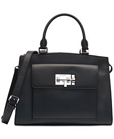 DKNY Elizabeth Mastrotto Leather Satchel, Created for Macy's