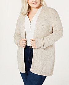 Belle by Belldini Plus Size Open-Front Cardigan