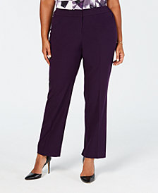 Nine West Plus Size Stretch Trouser Pants