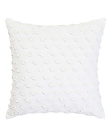 White Square Fringe Pillow