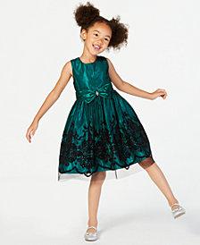 Jayne Copeland Little Girls Glitter Flocked Dress