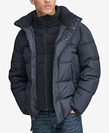 Marc New York Men's Down Puffer Jacket with Fleece Bib