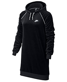 Nike Sportswear Velour Hoodie Dress