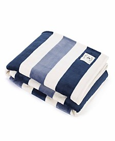 Nautica Awning Stripe Collection Throw Blankets