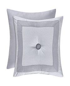 """Piper & Wright Sabrina Grey 18"""" Square Pillow"""