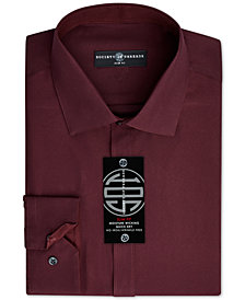Society of Threads Men's Slim-Fit Non-Iron Performance Solid Dress Shirt