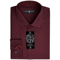 Society of Threads Mens Slim-Fit Non-Iron Solid Dress Shirt Deals