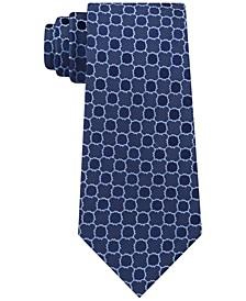 Men's Quatrefoil Medallion Slim Silk Tie