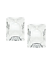 Dimpled Crystal Cubes - Small. Set Of 2