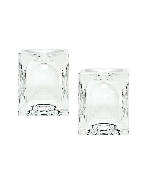 Dimond Home Dimpled Crystal Cubes - Small. Set Of 2