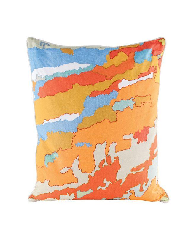 Dimond Home Orange Topography Pillow