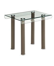 Karnette Glass Top End Table