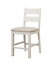 Gwen Weathered White Pub Chair (Set of 2)