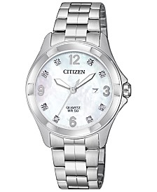 Citizen Women's Quartz Stainless Steel Bracelet Watch 32mm