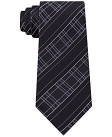 Kenneth Cole Reaction Men's Satin Modern Grid Slim Silk Tie