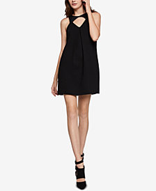 BCBGeneration Faux-Leather Cutout Mini Dress