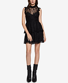 BCBGeneration Ruffled Lace Dress