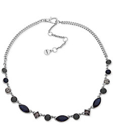 "DKNY Crystal Collar Necklace, 16"" + 3"" extender, Created for Macy's"