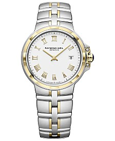 RAYMOND WEIL Women's Swiss Parsifal Two-Tone PVD Stainless Steel Bracelet Watch 30mm