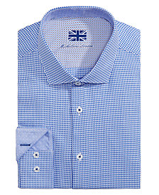 Michelsons of London Men's Slim-Fit Pattern Dress Shirt