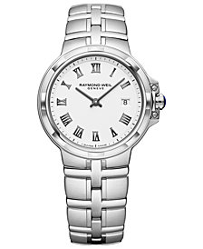 RAYMOND WEIL Women's Swiss Parsifal Stainless Steel Bracelet Watch 30mm