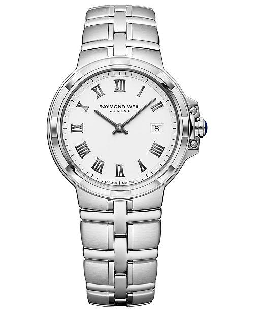 Raymond Weil Women's Swiss Parsifal Stainless Steel Bracelet Watch 30mm