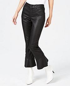 I.N.C. Coated Ruffle-Hem Jeans, Created for Macy's