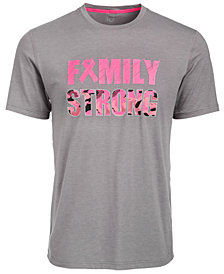 ID Ideology Men's Breast Cancer Awareness Family Strong T-Shirt, Created for Macy's