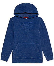 DC Comics Big Boys Embossed Superman Hoodie