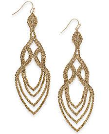 Thalia Sodi Gold-Tone Crystal Point Drop Earrings, Created for Macy's