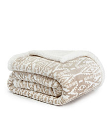 Eddie Bauer Eb San Juan Dark Beige Throw