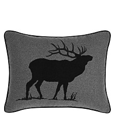 Elk Charcoal Breakfast Pillow