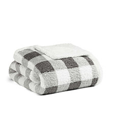 Eddie Bauer Snowfield Grey Sherpa Throw