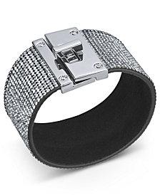 Thalia Sodi Silver-Tone Multi-Crystal Wrap Bracelet, Created for Macy's