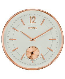 Citizen Gallery Rose Gold-Tone & Ivory Wall Clock