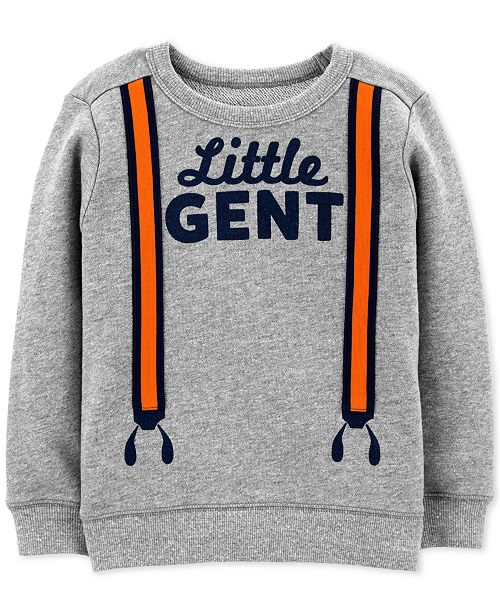 eec7f051a Carter's Toddler Boys Little Gent Graphic Cotton Sweatshirt ...