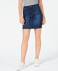 Celebrity Pink Juniors' Denim Pencil Skirt