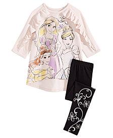 Disney Little Girls 2-Pc. Princesses Top & Leggings Set