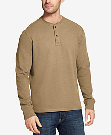 G.H. Bass & Co. Men's Carbon Plaited Jersey Henley