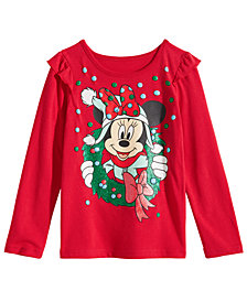 Disney Little Girls Minnie Mouse Wreath T-Shirt