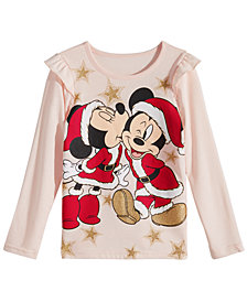 Disney Little Girls Mickey & Minnie Mouse T-Shirt