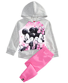 Disney Little Girls 2-Pc. Minnie Mouse Hoodie & Pants Set