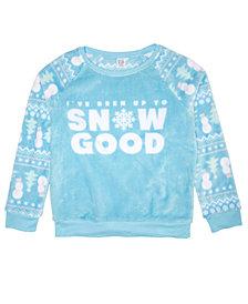 Awake Big Girls Snow Good Plush Sweatshirt