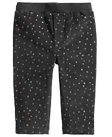 First Impressions Baby Girls Star-Print Corduroy Pants, Created for Macy's